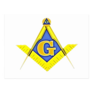 Masonic symbol postcard