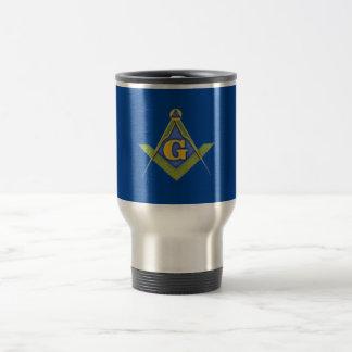 Masonic symbol travel mug
