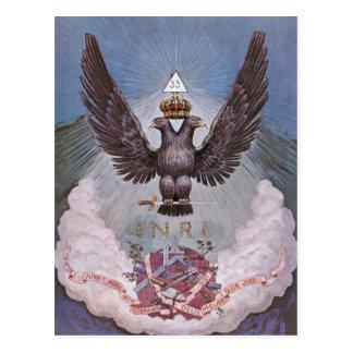 Masonic Symbolism Postcard