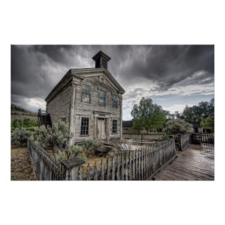 Masonic Temple - Bannack Ghost Town Poster