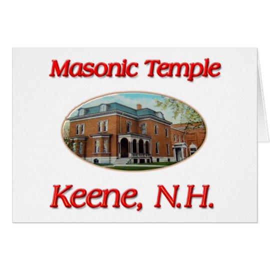 Masonic Temple Keene N.H. Card