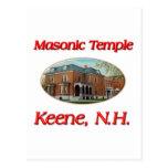 Masonic Temple Keene N.H. Post Card