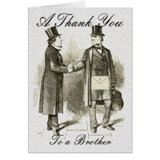 Masonic Thank You Card