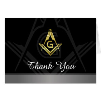 Masonic Thank You Cards | Custom Freemason Card