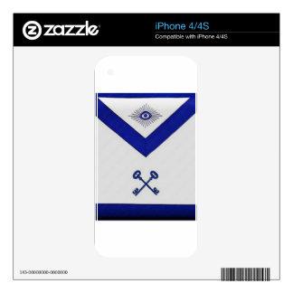 Masonic Treasurer Apron Decals For iPhone 4S
