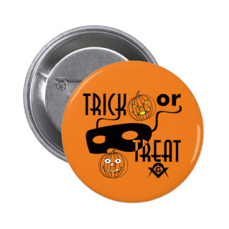 Masonic Trick or Treat Button