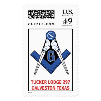 Masonic, TUCKER LODGE 297GALVESTON TEXAS Postage Stamp