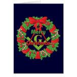 Masonic Wreath Greeting Card
