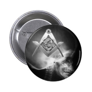 Masonic X-Ray Alien Skull Button