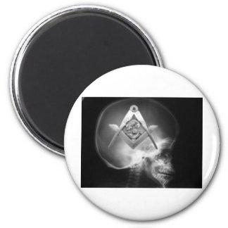 Masonic X-Ray Alien Skull Fridge Magnet