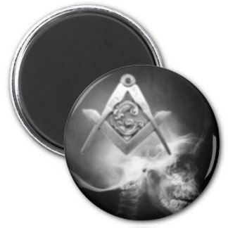 Masonic X-Ray Alien Skull Magnet