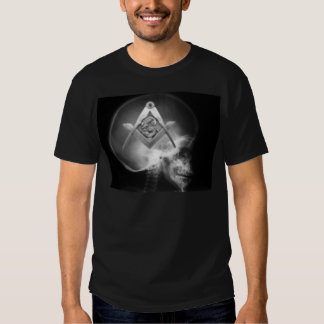 Masonic X-Ray Alien Skull Tees