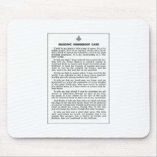 masoniccard mouse pad