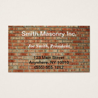 Masonry Business Card