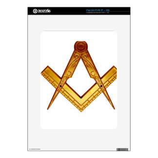 Masonry squares and compass decal for the iPad