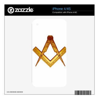Masonry squares and compass decal for the iPhone 4S