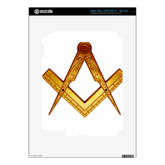 Masonry squares and compass iPad 3 decal