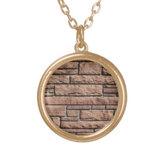 Masonry Wall Gold Plated Necklace