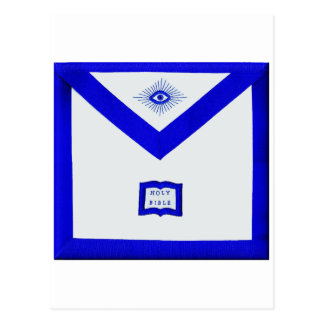 Masons Chaplain Apron Postcard