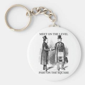 Masons Meeting Basic Round Button Keychain