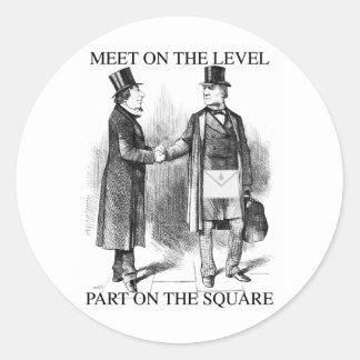 Masons Meeting Classic Round Sticker