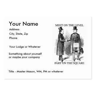 Masons Meeting, Large size Large Business Card