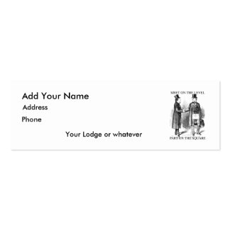 Masons Meeting Skinny Card Business Card Templates