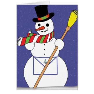 Masons Snowman Greeting Card