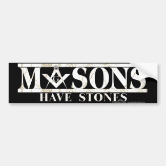 Masons Stones Car Bumper Sticker