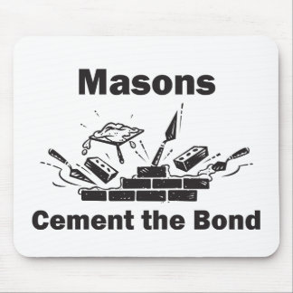Masons Throw in the Trowel Mouse Pad