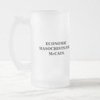 MASOQUISTAS ECONÓMICOS PARA McCAIN. Jarra De Cerveza Esmerilada