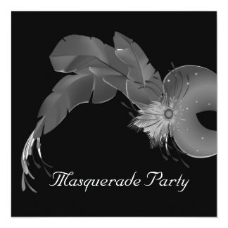 Masquarade party card