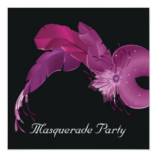 Masquarade party card