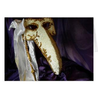 Masque del pájaro felicitación