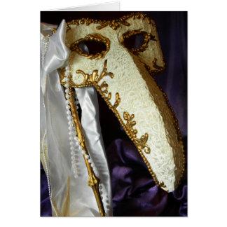 Masque del pájaro tarjetón