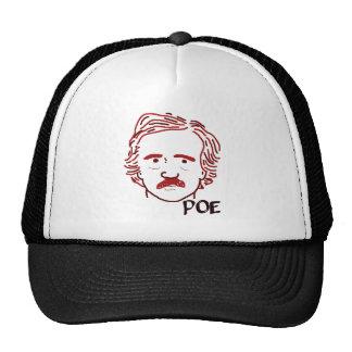 Masque del Poe rojo Gorros Bordados