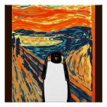 Masque el poster del pingüino