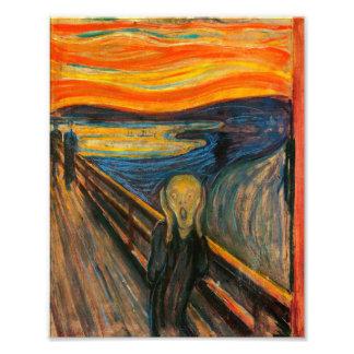 Masque la impresión del grito fotografia