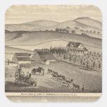 Masque, las residencias de Stanley, granjas Pegatina Cuadrada