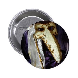 Masque of the Bird Button