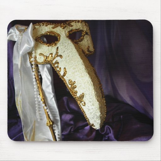 Masque of the Bird Mouse Pad