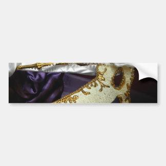 Masque over Purple Car Bumper Sticker