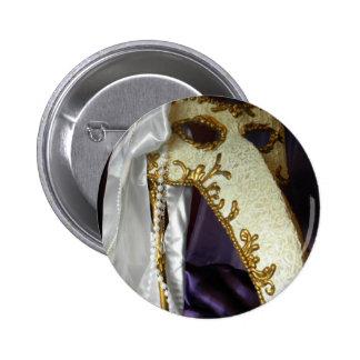 Masque over Purple Button