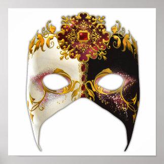 Masque veneciano Joya de rubíes Poster