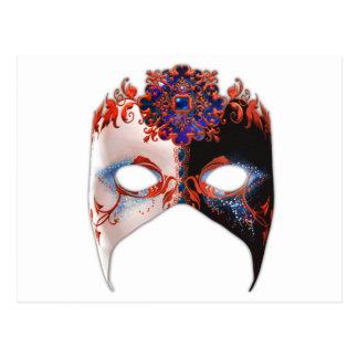Masque veneciano: Joya del carnaval Postal