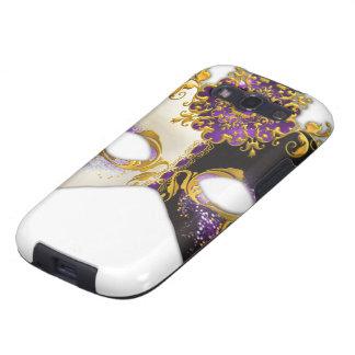 Masque veneciano: Joya púrpura Amethyst Samsung Galaxy S3 Carcasa