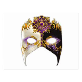 Masque veneciano: Joya púrpura Amethyst Postal