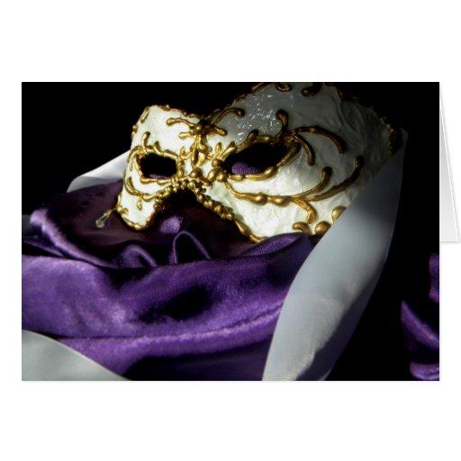 Masque veneciano tarjeta de felicitación