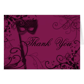 masquerade09blank, Thank  You Stationery Note Card