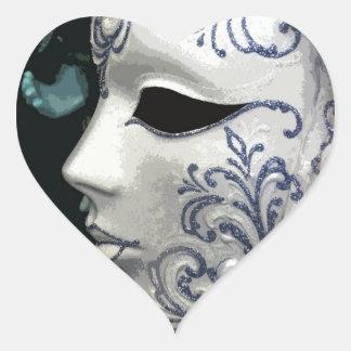 MASQUERADE 2 (blue) Heart Sticker